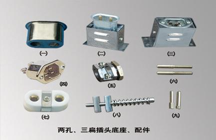 电加热器插头 工业用插座插头 加热圈插座